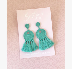 Helena Aqua Earrings