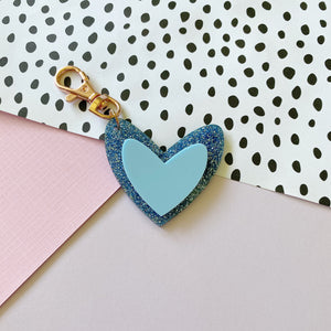 Blue Lovers 'Spread The Love' Keyring