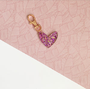 Mini Bright Sparkle 'Spread The Love' Keyring Ring