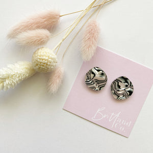 Zebra Statement Studs