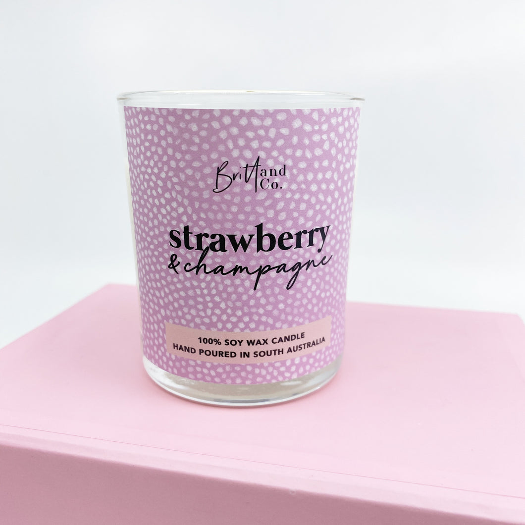 Strawberry Champagne Medium Candle