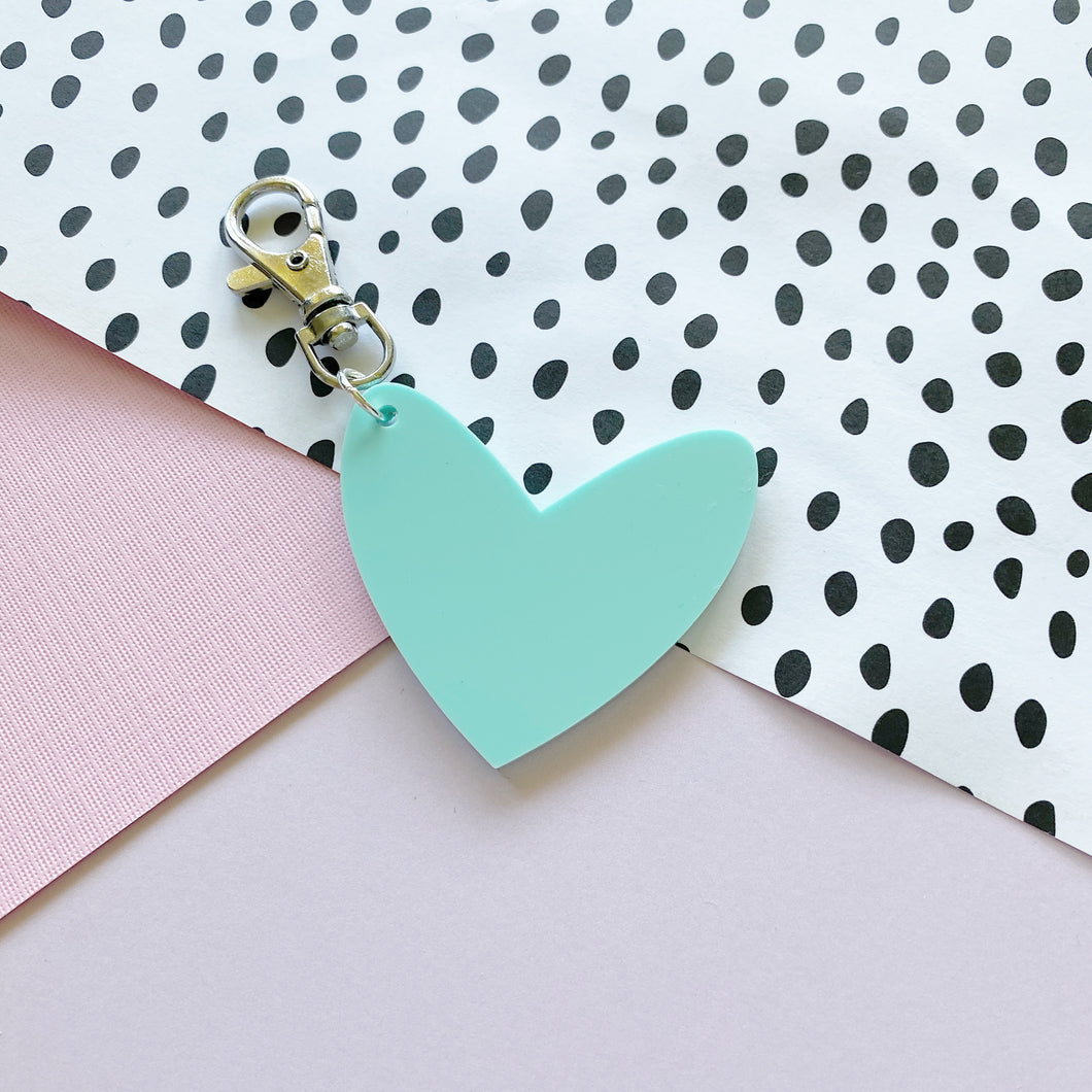 Mint 'Spread The Love' Keyring Ring