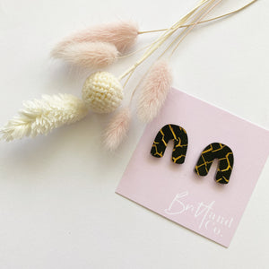 Crackle Arch Statement Studs