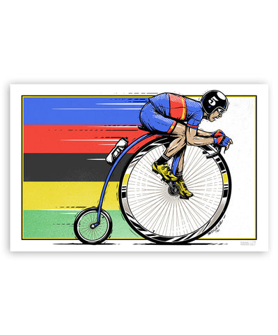 High Wheel Cycliste 11x17 Print