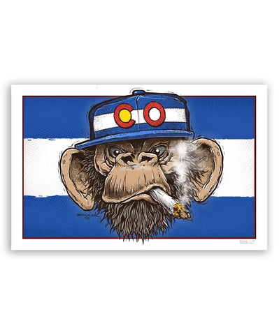 Pot Chimp 11x17 Print