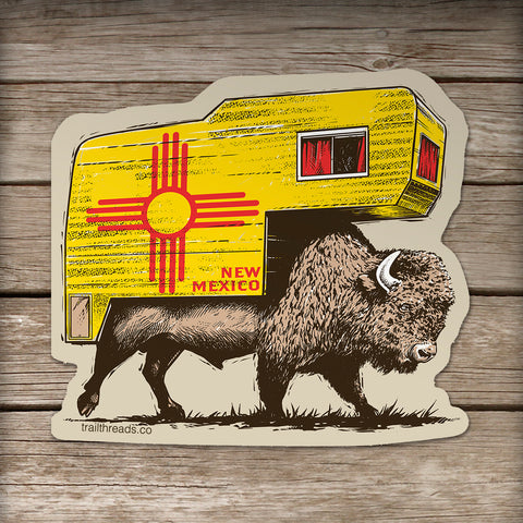 Roam the Range New Mexico Sticker