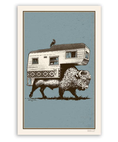 Roam on the Range BLUE 11x17 Print