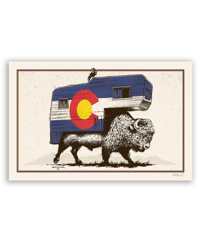 Roam on the Range Colorado 11x17 Print