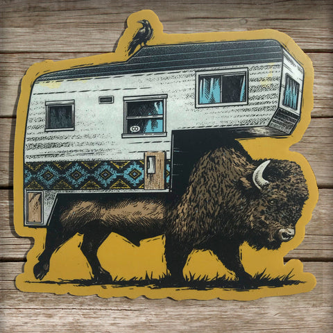 Roaming Bison Sticker