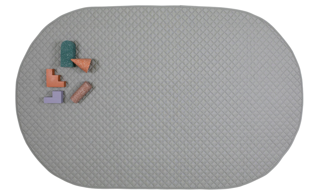 playmat oval • grey