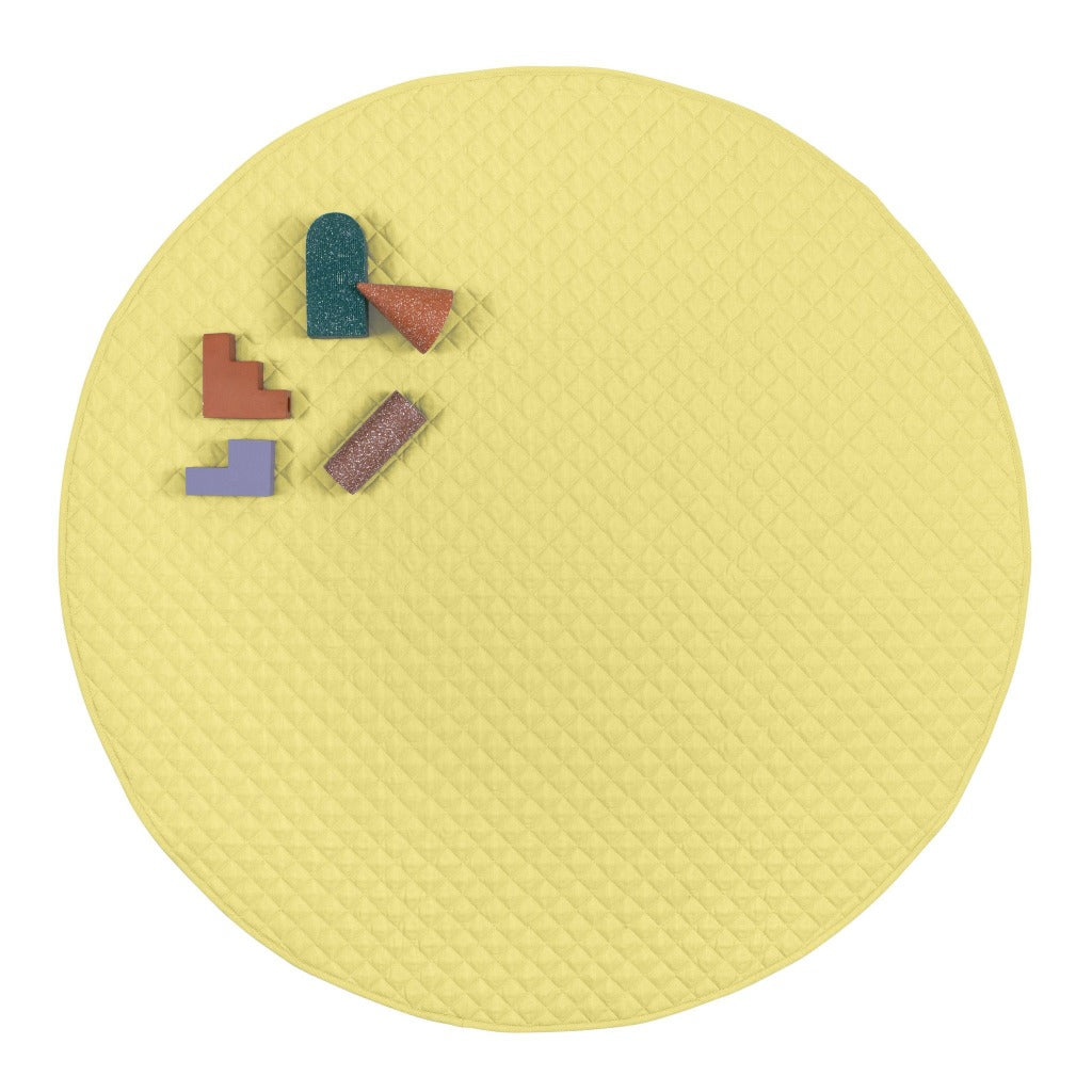 playmat round • lemonade
