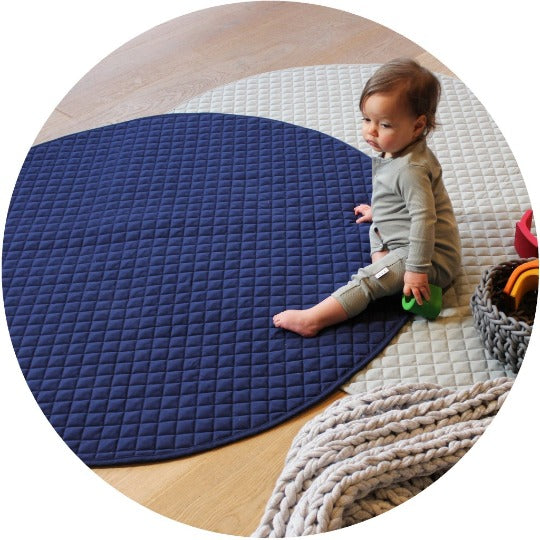 playmat round • navy