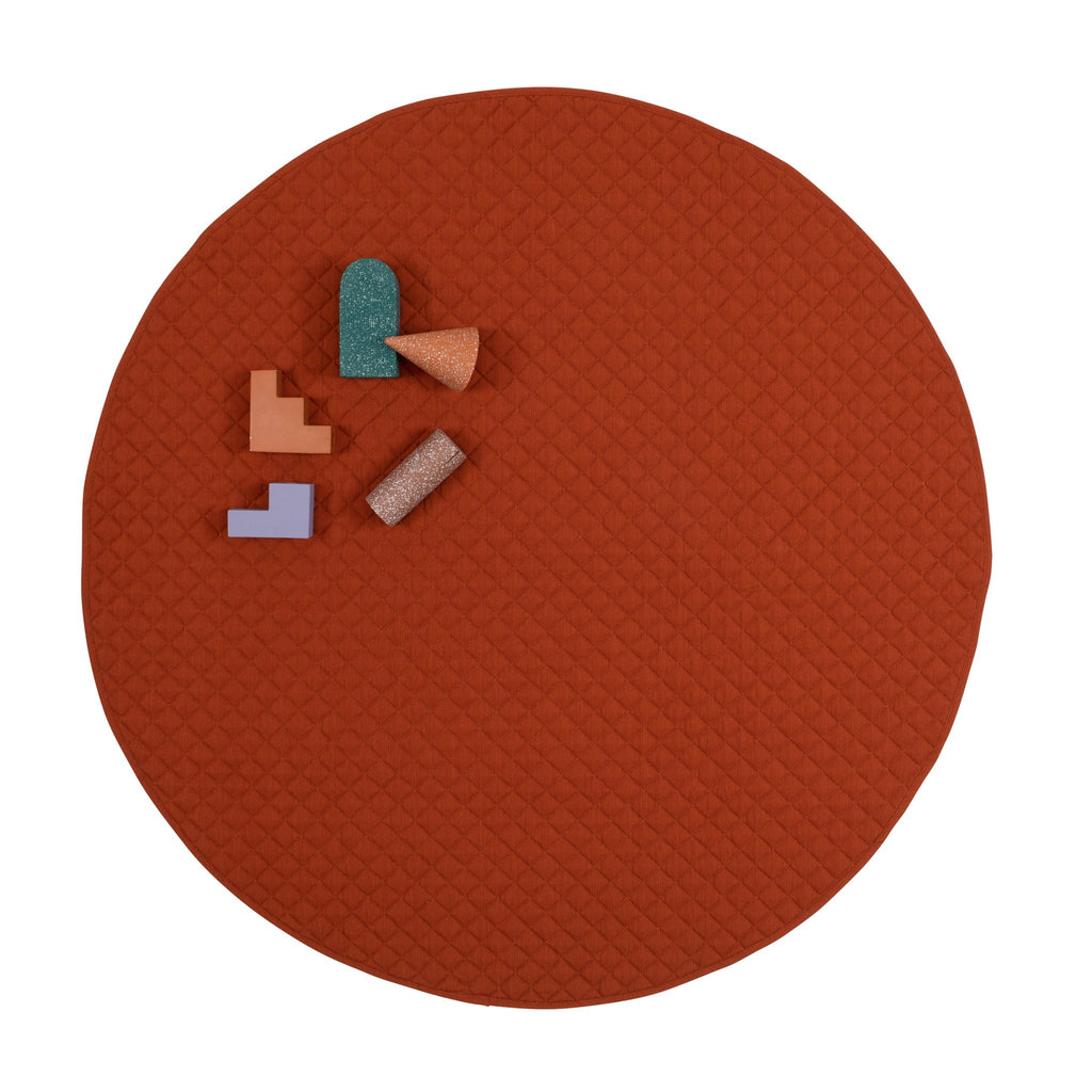playmat round • rust