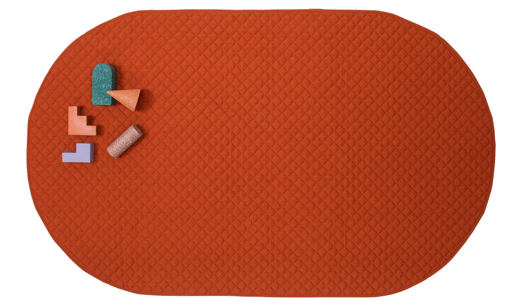 playmat oval • rust