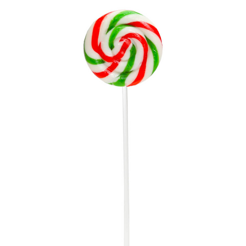 Swirl Ripple Lollipops - Christmas Cherry