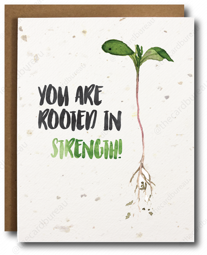seed paper greeting card with image of plant and text that says