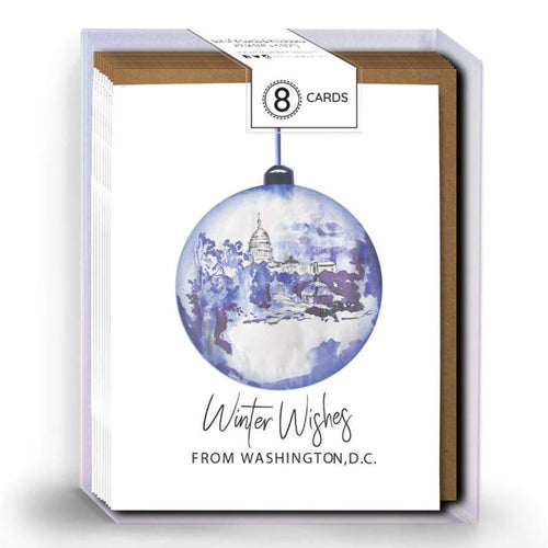 BOXED SET - DC Christmas Ornament Card