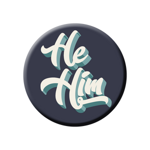 He/Him Pronoun Buttons