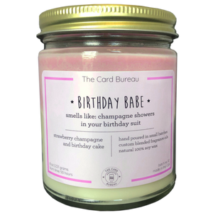 Pink and white soy candle with natural fragrances