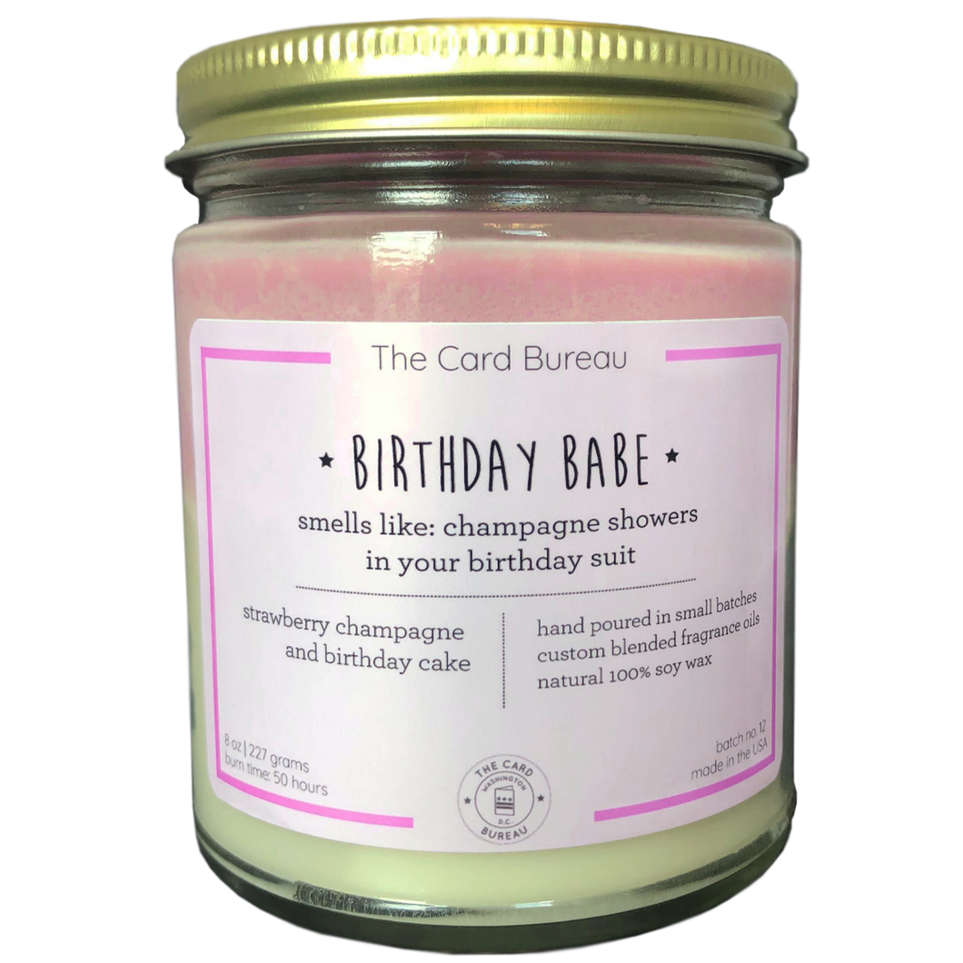 Birthday Babe Layered Candle