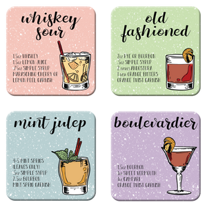 Whisky Cocktail Coaster Set