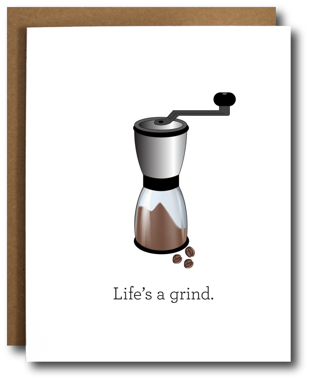 Life's a Grind Coffee Card