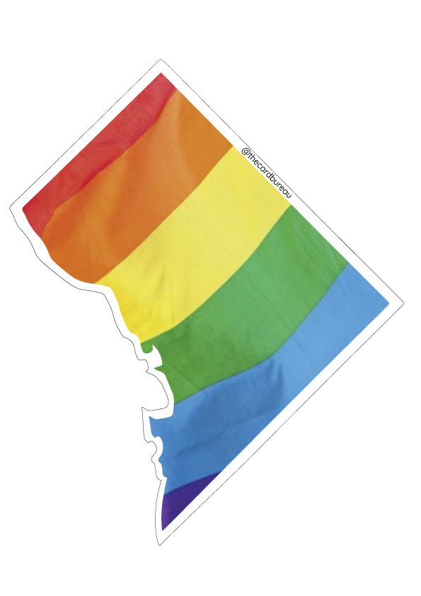 DC Pride Flag Sticker