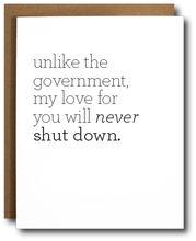 Love Shut Down Card