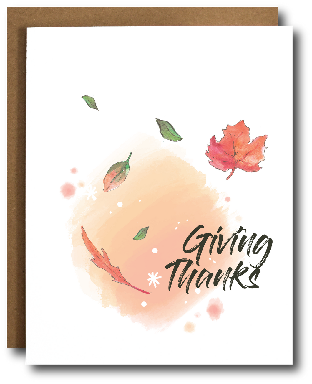 Giving Thanks Fall/ Thanksgiving Card