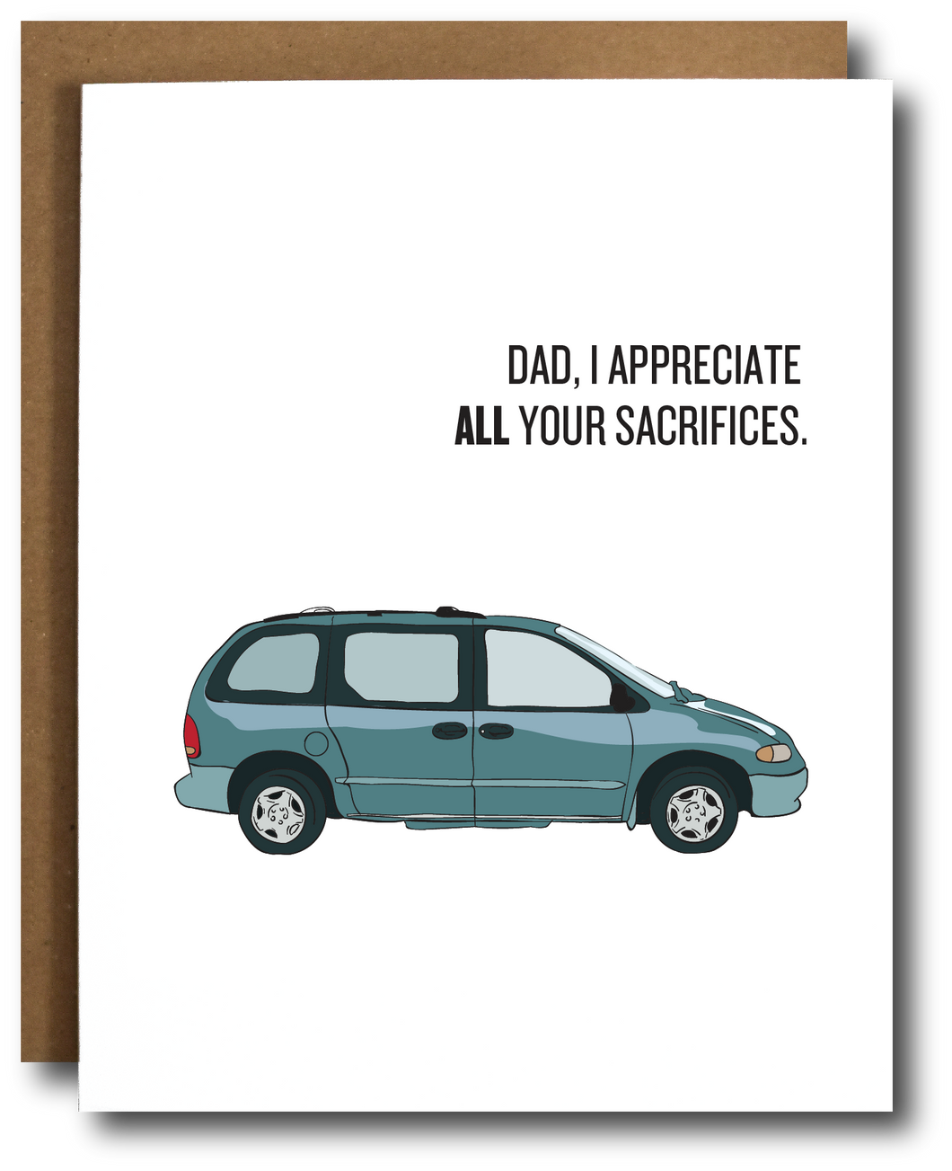 Minivan Dad Father's Day Card