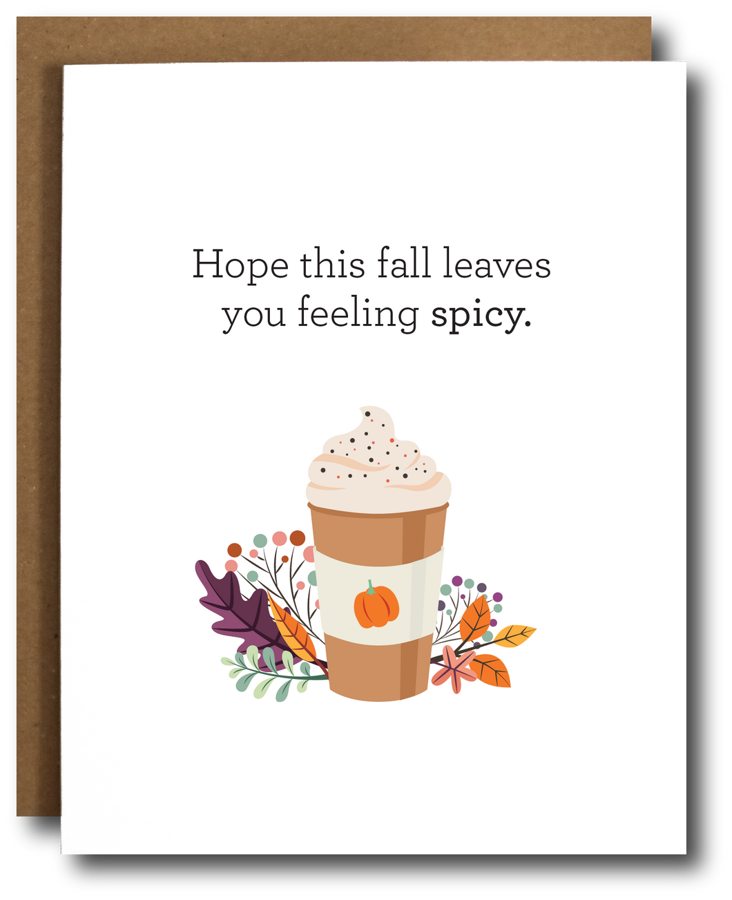 Pumpkin Spice Fall Card