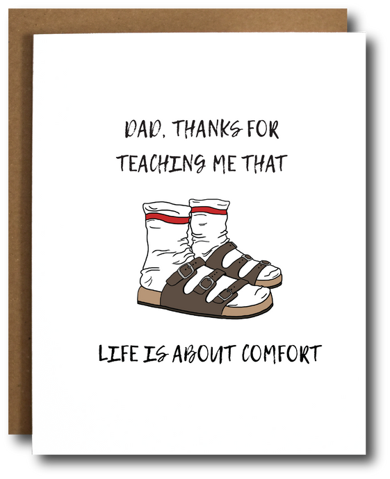 Birkenstocks Father's Day Card