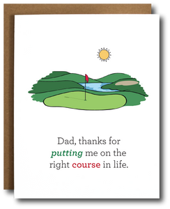 Golf Dad Father's Day Card