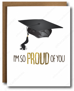 Gold Foil Proud Graduation Card