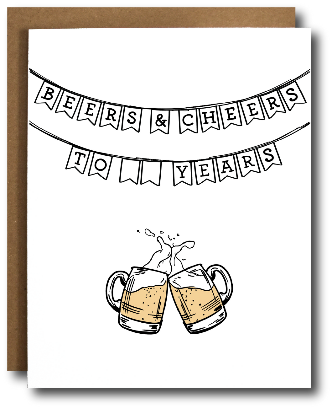 Beers & Cheers Celebration Card