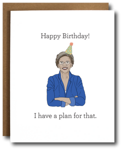 Elizabeth Warren Birthday Card