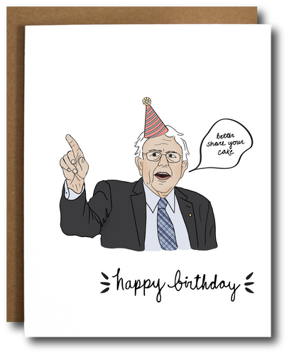 Bernie Sanders Birthday Card