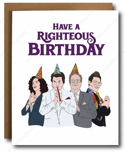 Righteous Gemstones Birthday Card