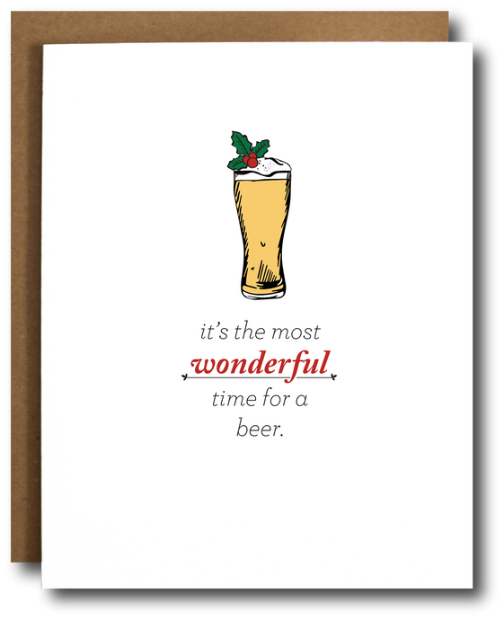 Wonderful Time for a Beer Christmas Card