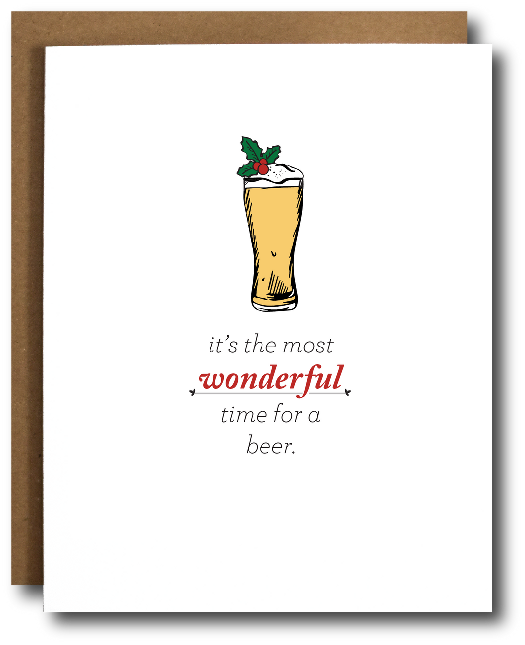 Wonderful Time for a Beer Card