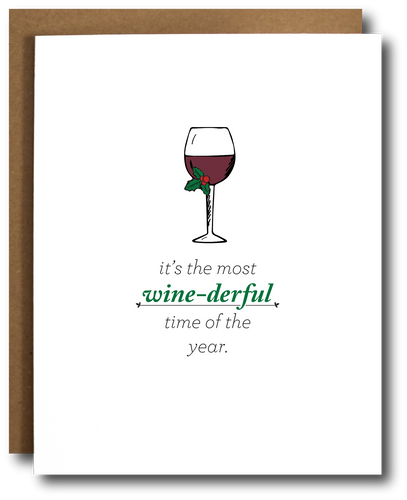 Wine-derful Time of Year Christmas Card