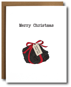 Beautiful Clean Coal Christmas Card