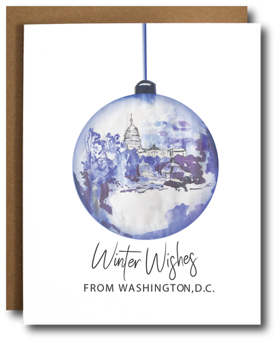 DC Christmas Ornament Card