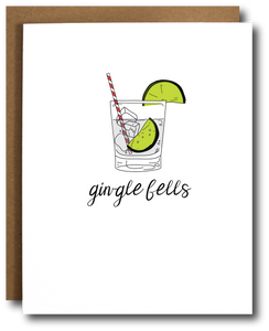 Gin-gle Bells Christmas Card