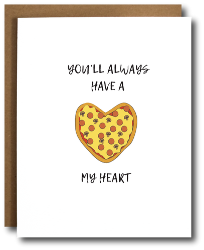 Pizza my Heart Love day card