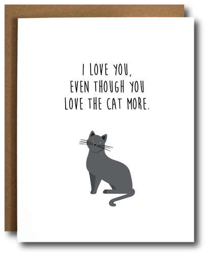 Love the Cat More Card