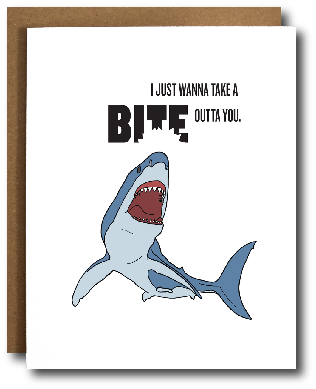 Biting Love Shark Card