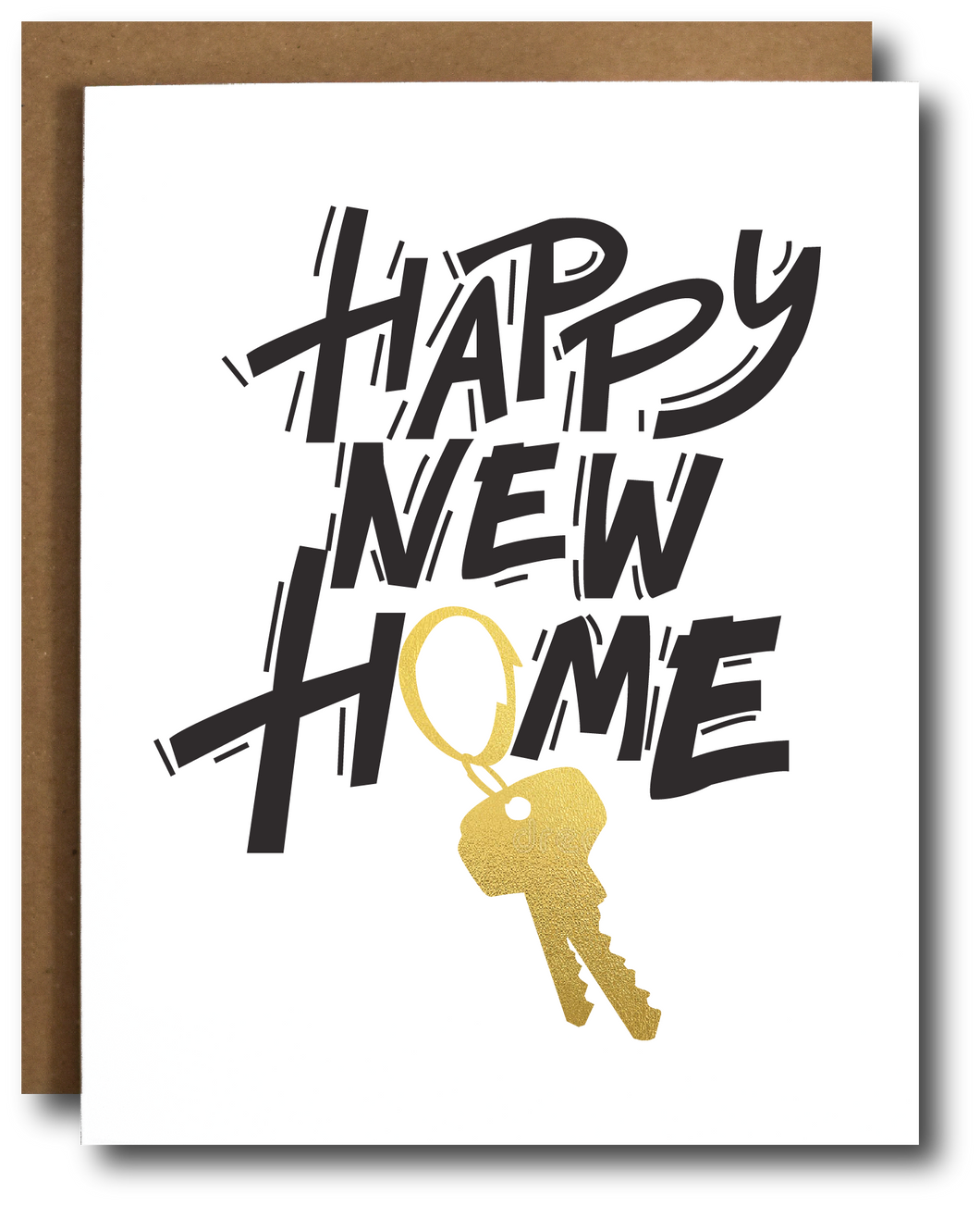 Happy New Home *gold foil key* Card
