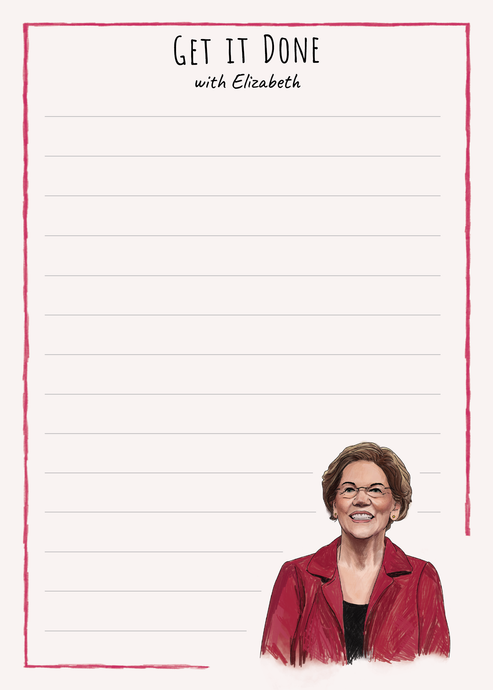 Elizabeth Warren Get it Done Notepad