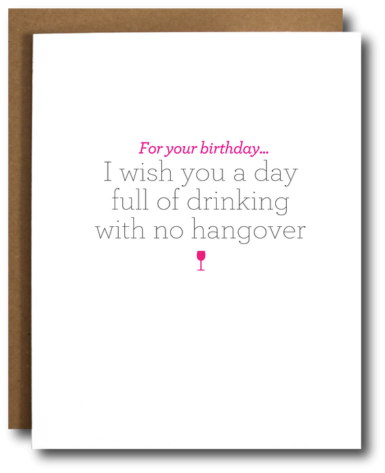 birthday with no hangover card